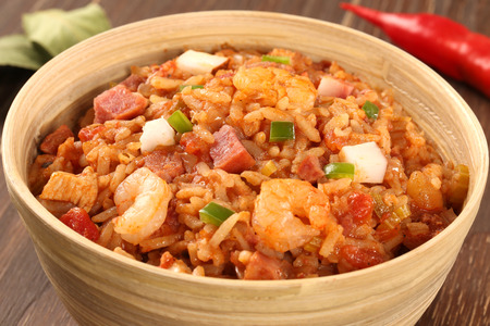 creole: Creole Jambalaya - Rice cooked with shrimp, smoked sausage and tomatoes.