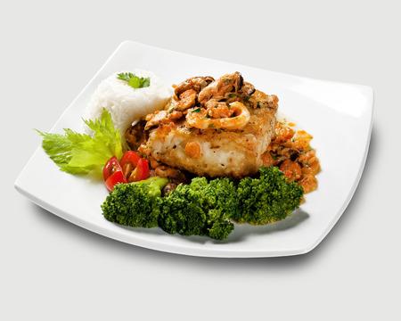 codfish: A typical Portuguese dish with codfish called Bacalhau do Porto.