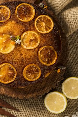 lemon cake: photo of delicious homemade lemon cake.