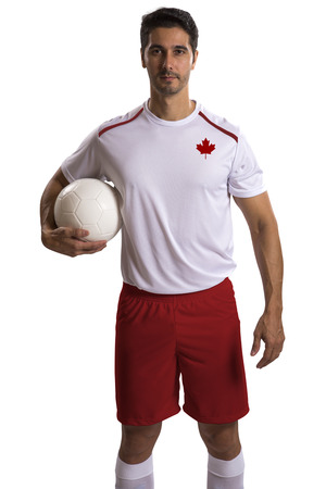 canadian football: Canadian futebol soccer in white background Stock Photo