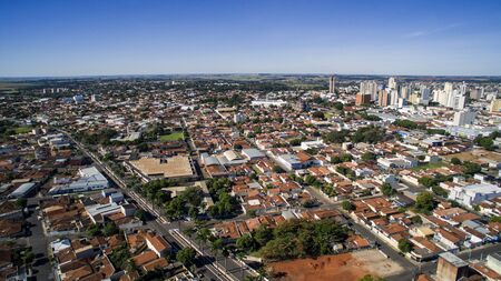 Aerial view of the city of Aracatuba in Sao Paulo state in Brazil. Stock Photo