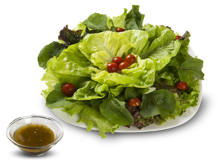 Lettuce salad with tomatoes.