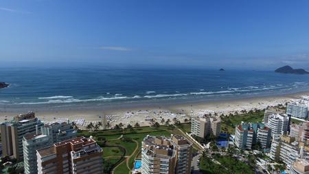 horizont: Aerial view Riviera de Sao Lourenco beach (Rivieras beach - St. Lawrence) Stock Photo