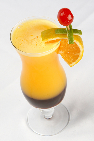 Fruit cocktail. traditional cold drink in the summer