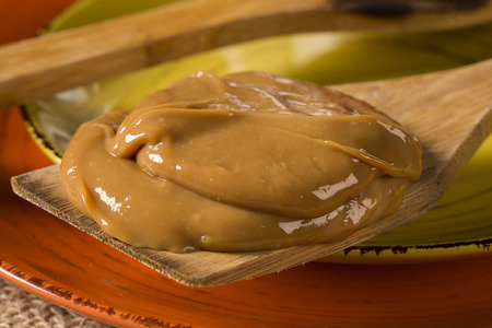 Dulce de leche, (Doce de leite) a sweet made from milk, made in Brazil and Argentina