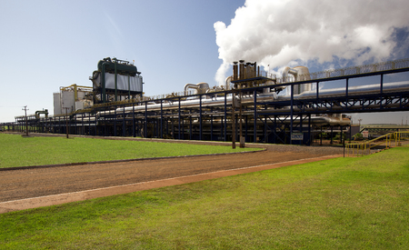 wattage: sugar cane industrial mill processing plant in Brazil Editorial
