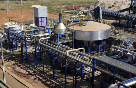 sugar cane industrial mill processing plant in Brazil Editorial