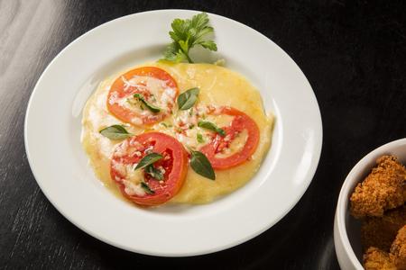 mini pizza: mini pizza on the white plate