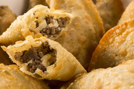 Brazilian snack. Meat pastry.