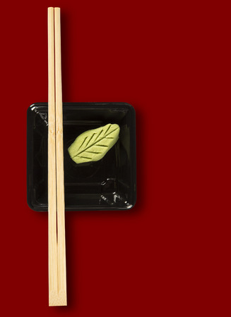 wasabi: Hashi with wasabi - japanese food