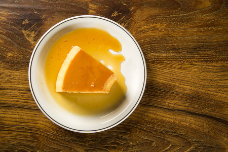 condensed: Pudim de Leite - Brazilian flan made with milk and condensed milk, topped with caramel sauce.