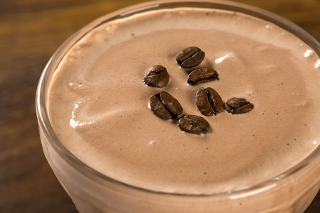 coffee cream, pannacotta,selective focus Standard-Bild