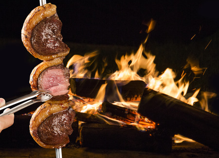 Steak, traditional Brazilian barbecue.