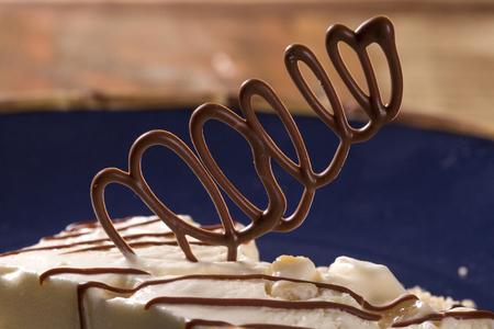 fredo: Freddo dessert con torrone Archivio Fotografico