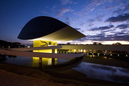 Curitiba, Brazil - July, 2017: Oscar Niemeyer Museum, or MON, in Curitiba, Parana State, Brazil. Editorial