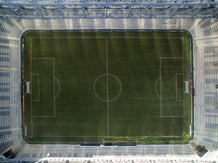 Aerial view of football stadium of the paranaense athletic club. Arena da baixada. Curitiba. Parana. July 2017.