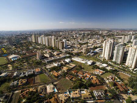 Ribeirao Preto city in Sao Paulo, Brazil. Region of Joao Fiusa Avenue.