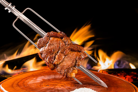 Ancho, traditional Brazilian barbecue. Banco de Imagens