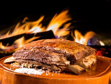 Barbecue ribs, traditional Brazilian barbecue.