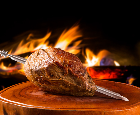 Cupim, traditional Brazilian barbecue. Banco de Imagens