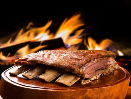 바베큐 갈비, 전통적인 브라질 바베큐.