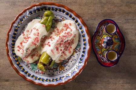 Mexican cuisine - Chiles en nogada