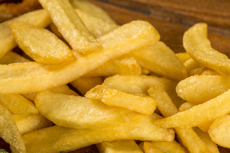 fries portion close up Stock Photo