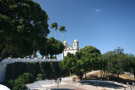 Salvador, Brazil - January, 2017: Igreja Nosso Senhor do Bonfim church, Salvador (Salvador de Bahia), Bahia, Brazil, South America.