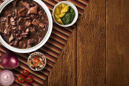 Nourriture brésilienne Feijoada. Vue de dessus Banque d'images
