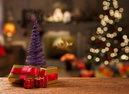 décoration d'arbre de Noël. Noël flou.