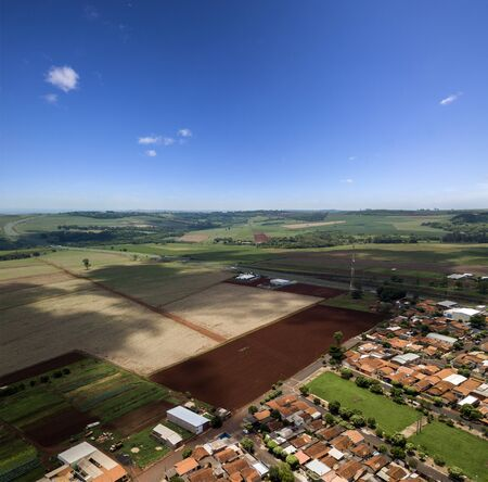 Aerial landscape city (Aramina - Sao Paulo - Brazil). October, 2018.