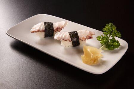 Octopus nigiri sushi. Standard-Bild