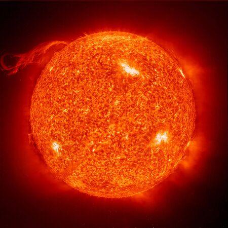 The sun on a black background 스톡 콘텐츠