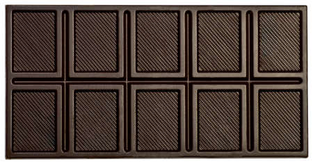Dark delicious chocolate isolated on a white background