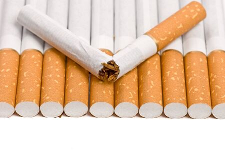 broken cigarette stop smiking concept with copy space