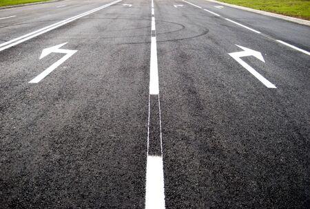 Turn to new lifestreet, road, arrow direction
