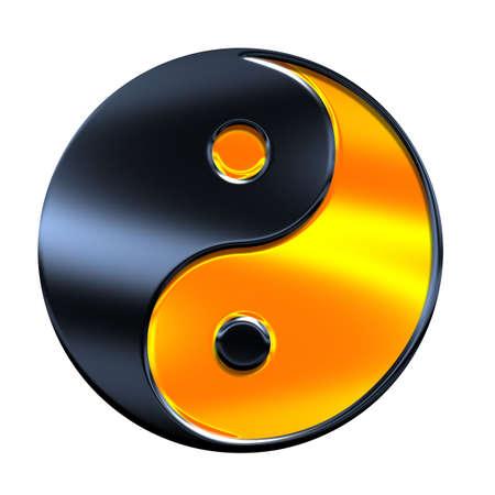 yin - yang symbol isolated on white
