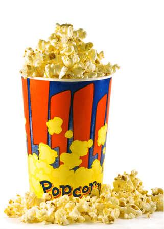popcorn bucket isolated over white background