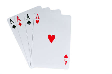 Four aces cards to win poker game