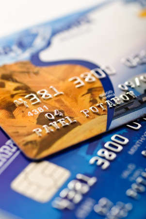 Close-up of silver digits and chip on a credit card shallow depth of focus Stock Photo - 3468663