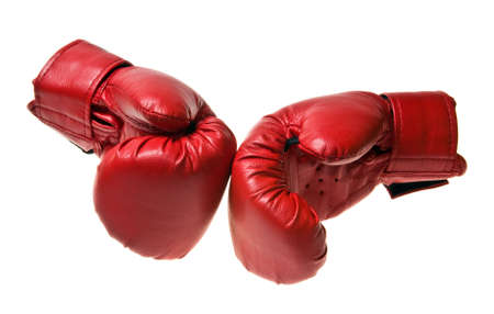 Boxing gloves isolated on white 스톡 콘텐츠