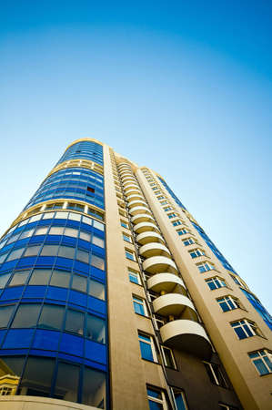 luxury apartment exterior with blue sky background Stock Photo - 3735079