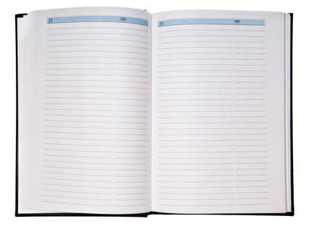Open paper notebook isolated over white background Stock Photo - 3735066