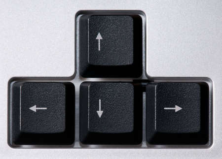 Close up of computer keyboard, arrows zone