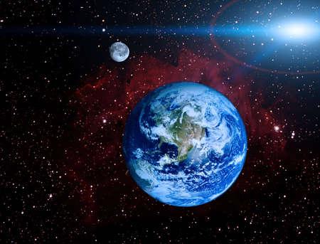 illustraion: Earth planet in space illustraion Stock Photo