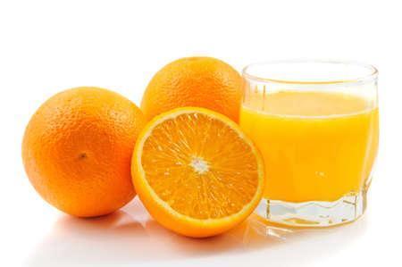oranje juice isolated on white background 스톡 콘텐츠