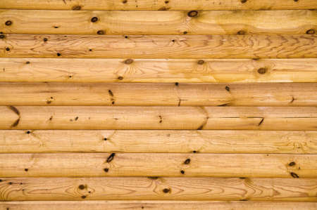 background pattern of natural pine balk wall Stock Photo