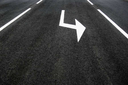 Street, road, arrow direction. Set new course concept photo