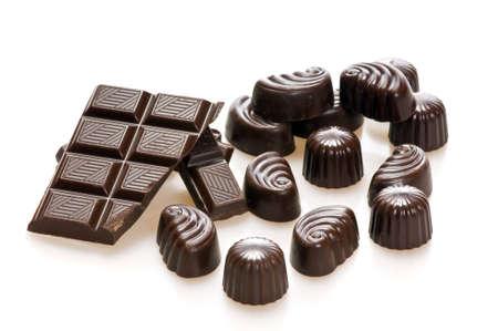 bonbon chocolat: Isol�es sur les bonbons au chocolat blanc