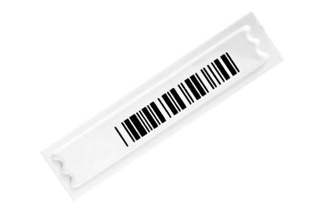 shoplifter: safety barcode lable isolated on white